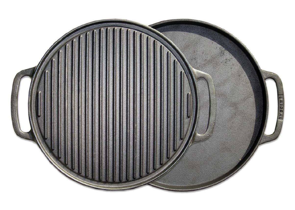 grillplatte aus gusseisen 55 cm 2 in 1. Black Bedroom Furniture Sets. Home Design Ideas