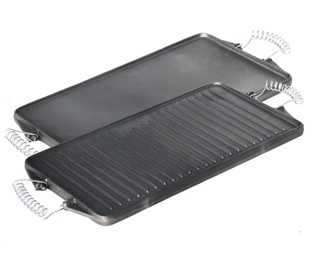 Pfanne Für Holzkohlegrill : grillplatte aus gusseisen 24 cm x 44 cm 2 in 1 ~ Watch28wear.com Haus und Dekorationen