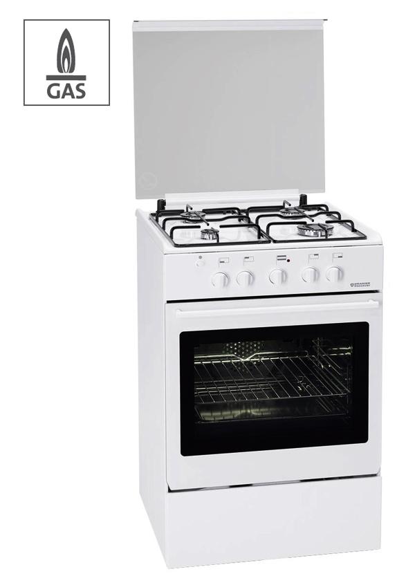 f 2355 oranier 55 cm gas standherd gasherd wei. Black Bedroom Furniture Sets. Home Design Ideas