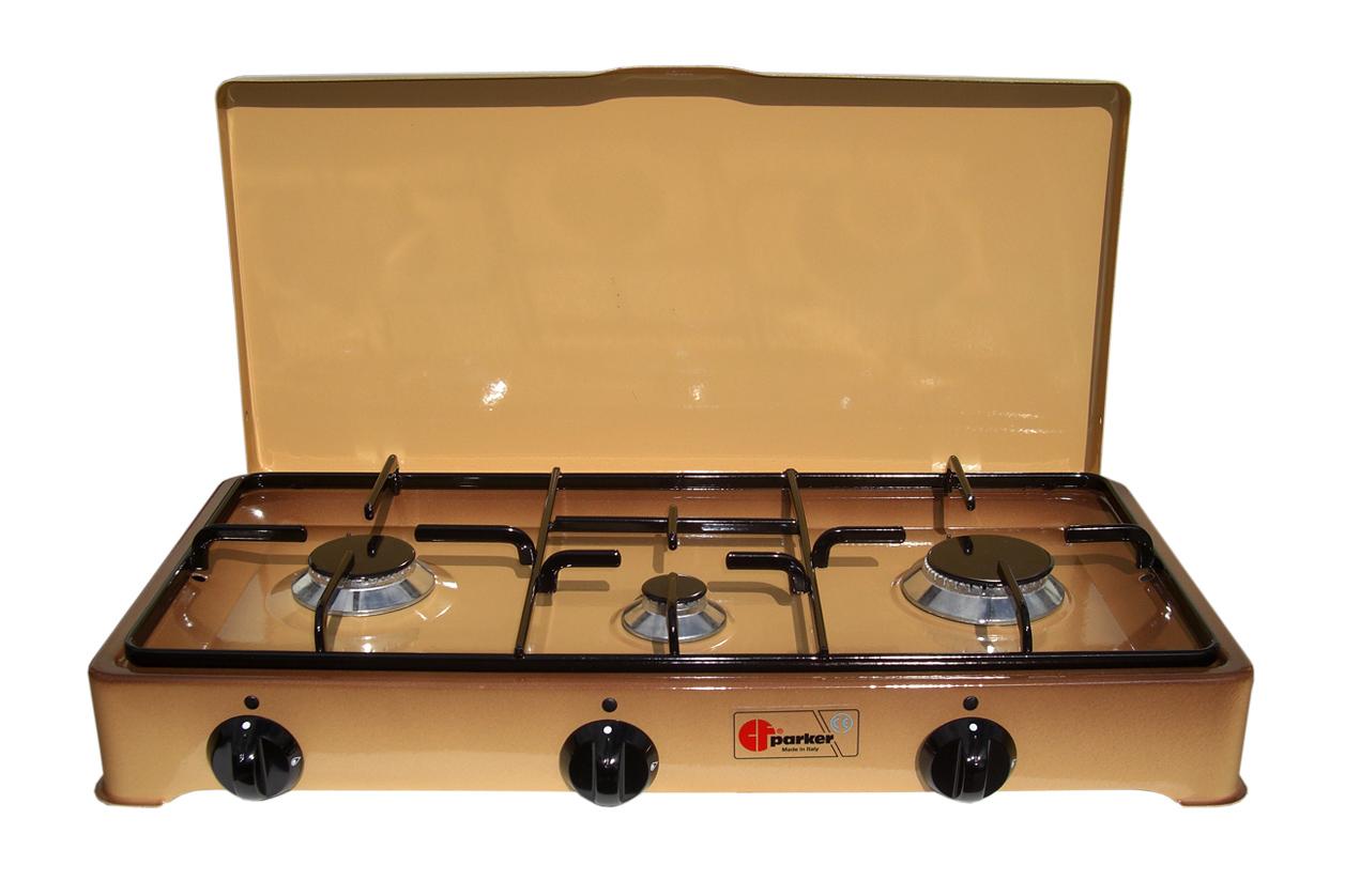 3 flammiger haushaltskocher gaskocher braun. Black Bedroom Furniture Sets. Home Design Ideas