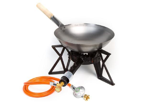 Wok Für Gasgrill : Hot wok wokbrenner hockerkocher gaswok wokpfannen asiabrenner